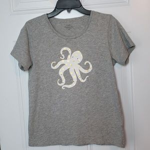 J. Crew Spotted Octopus Collector T-Shirt, Med.